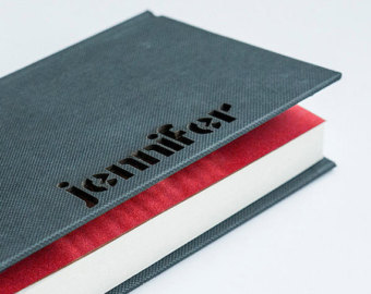 Personalisation of diaries with names of the recipient.
