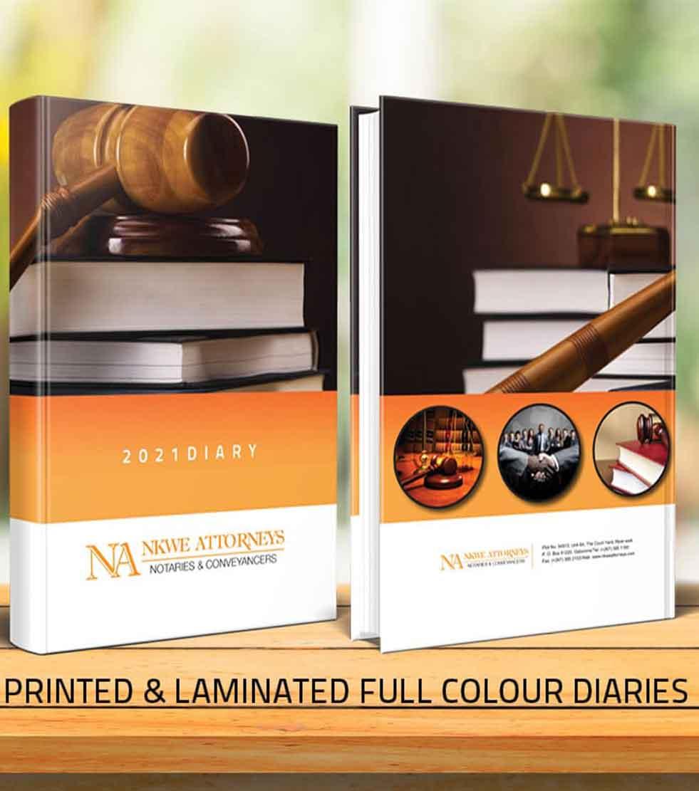 Printed & Laminated Diaries - Botswana Diaries